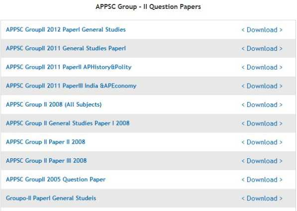 APPSC Group 1 Previous Papers Download (Prelims-Mains) Question Papers pdf