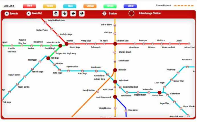 New Delhi Metro Map Pdf