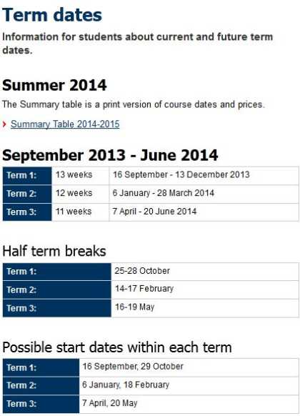 Uni mannheim term dates