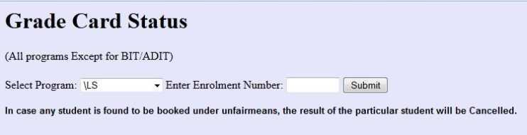 ignou mca assignment status