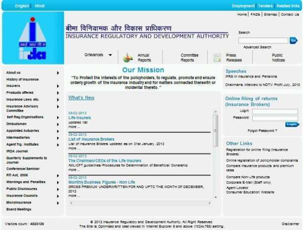 insurance regulatory development authority Insurance regulatory and development authority (irda) was renamed as  insurance regulatory and development authority of india on 30.