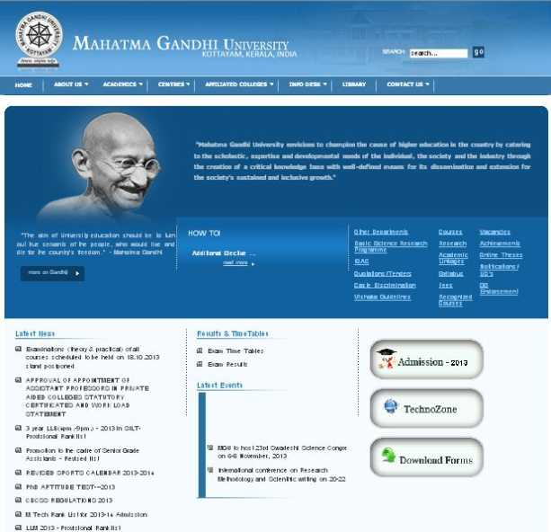 Mg university thesis search