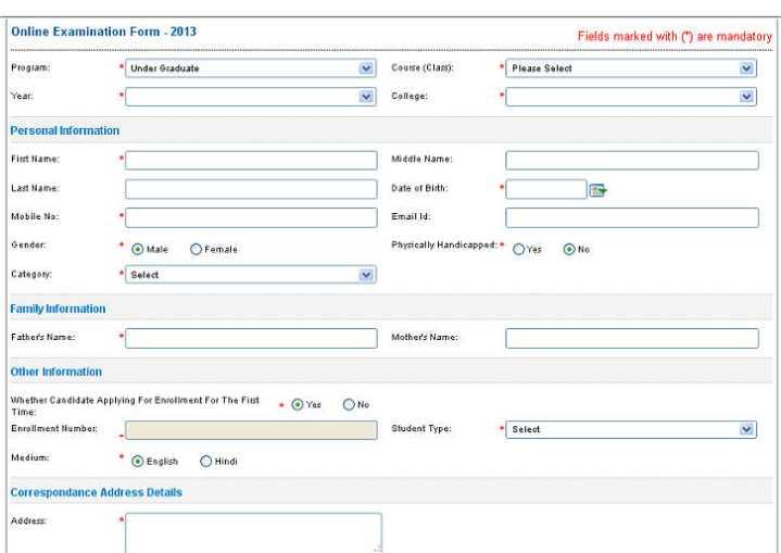 Online Application Form | New Calendar Template Site