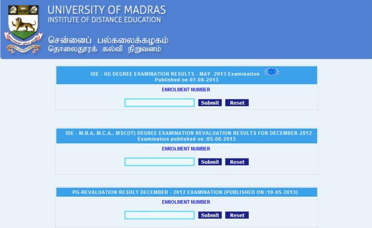 Mba Results: Madras University Mba Results 2014
