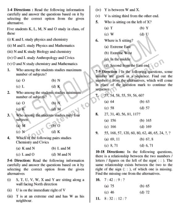 Ntse Previous Year Question Papers 2018 2019 Studychacha