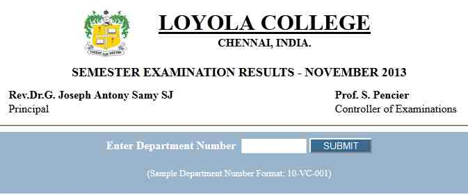 Pondicherry University Loyola College MBA Results - 2018 ...