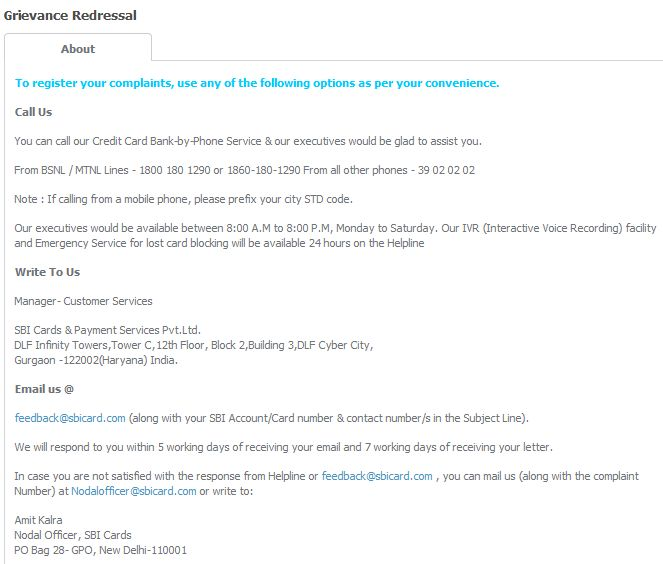Sbi atm card status page 5 2018 2019 studychacha cousotmer care number still if you dont get any satisfactory answer then you should contact grievance redressal altavistaventures Image collections