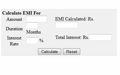 housing loan sbi housing loan emi calculator