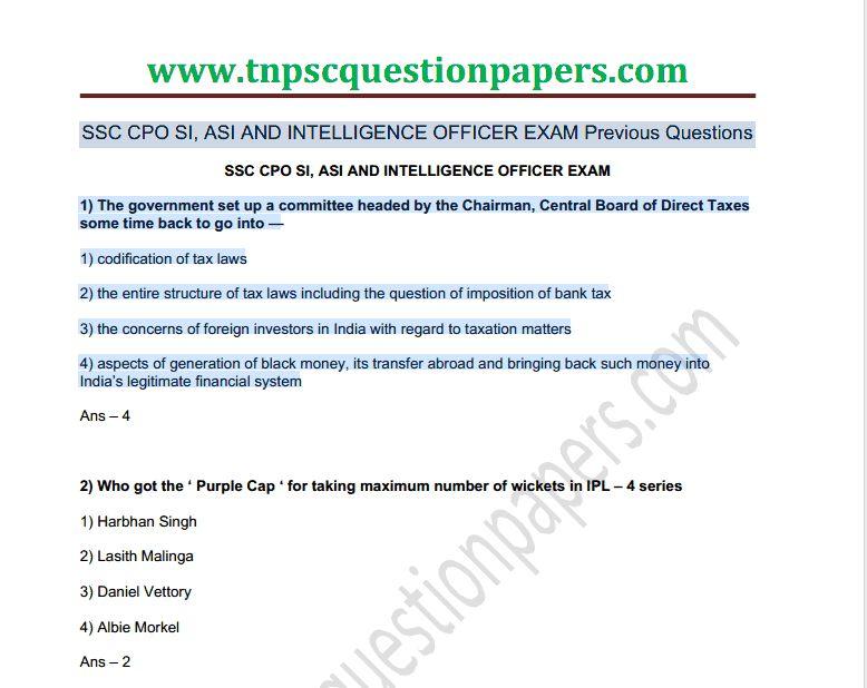 ap intermediate model papers 2010