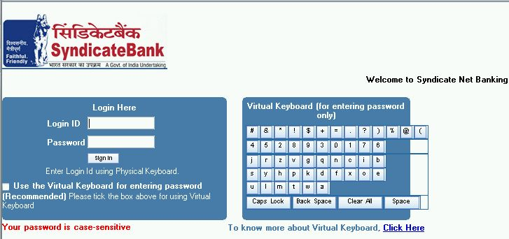 synd window mobile net banking