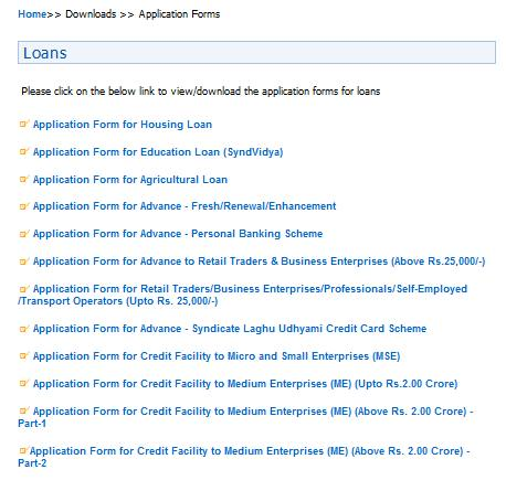 bank of india credit card application form download pdf