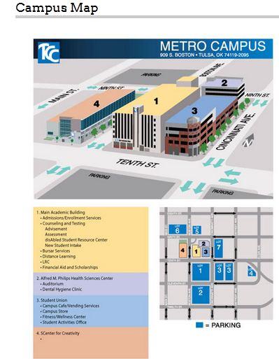 Tulsa Community College Metro Campus Map 2018 2019 Studychacha