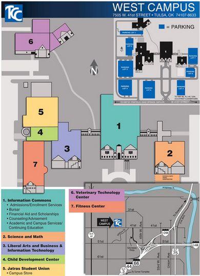 Tulsa Community College West Campus Map 20182019 StudyChaCha
