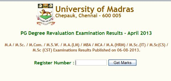 university of madras examination results Candidates awaiting the results can check them on the official madras university website: resultsunomacin.
