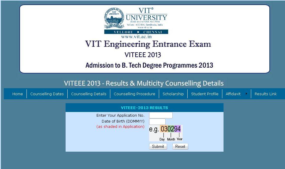 vit result date