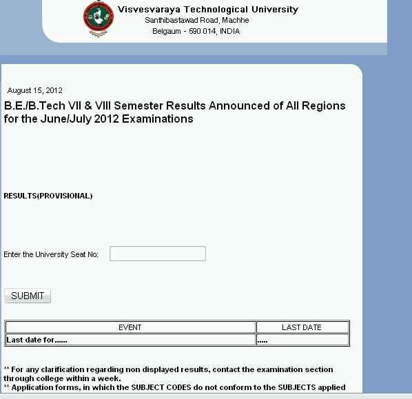 VTU Revaluation Results Ac