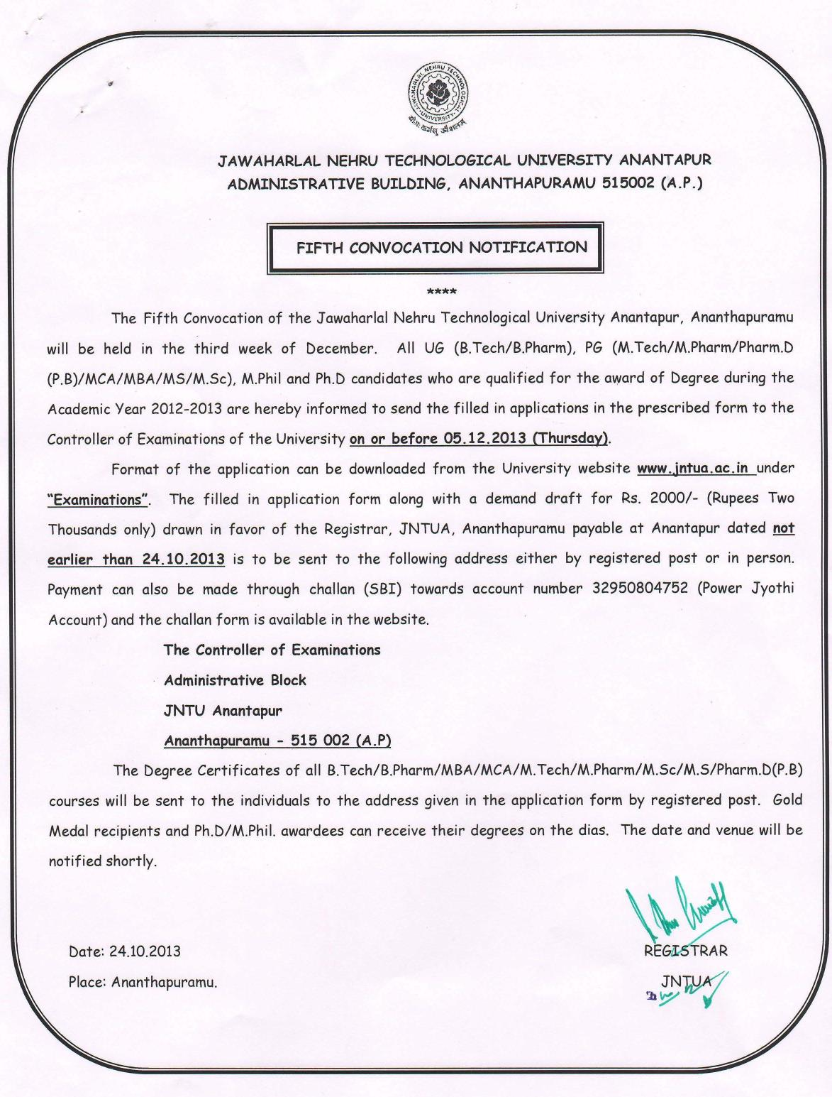 Superior As You Are Looking For The Notification Of Convocation Certificate So We  Are Provide You The Notification U0027