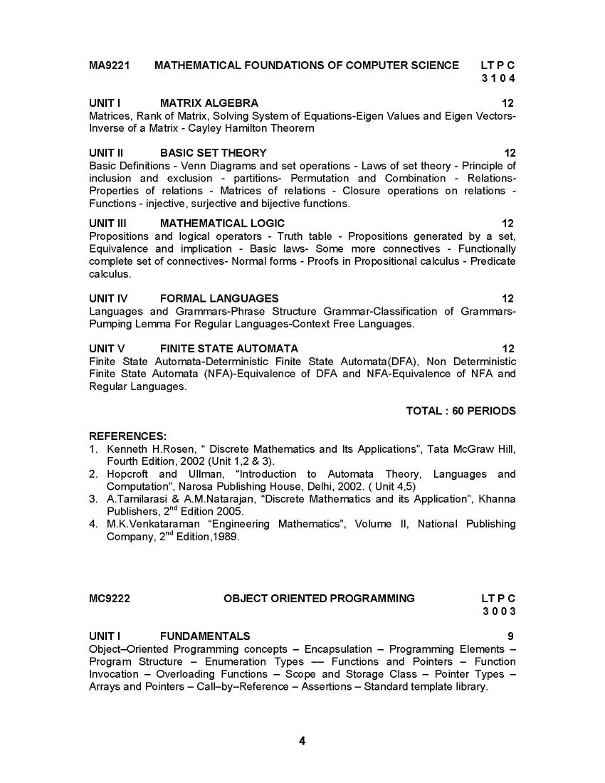 mca syllabus Curriculum & syllabus flexible curricula for btech / barch / 2015  mba /  mca / 2016 onwards curricula for mtech / msc / mba / mca / 2017  directed.