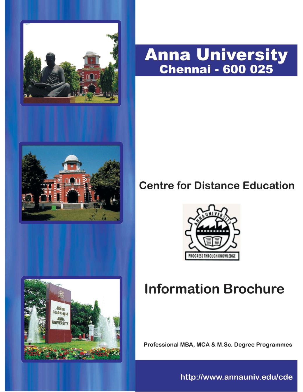 Anna University Distance Education MBA Admission Courses ...