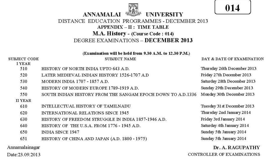 Annamalai University Distance Education Admission, Courses ...