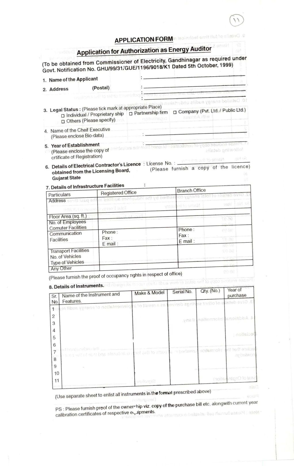 Applying of electrical contractor licence gujarat 2018 2019 application form electrical contractor license gujarat 1betcityfo Image collections