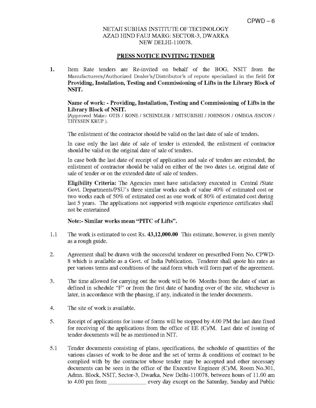 CPWD General Conditions of Contract Download - 2018-2019