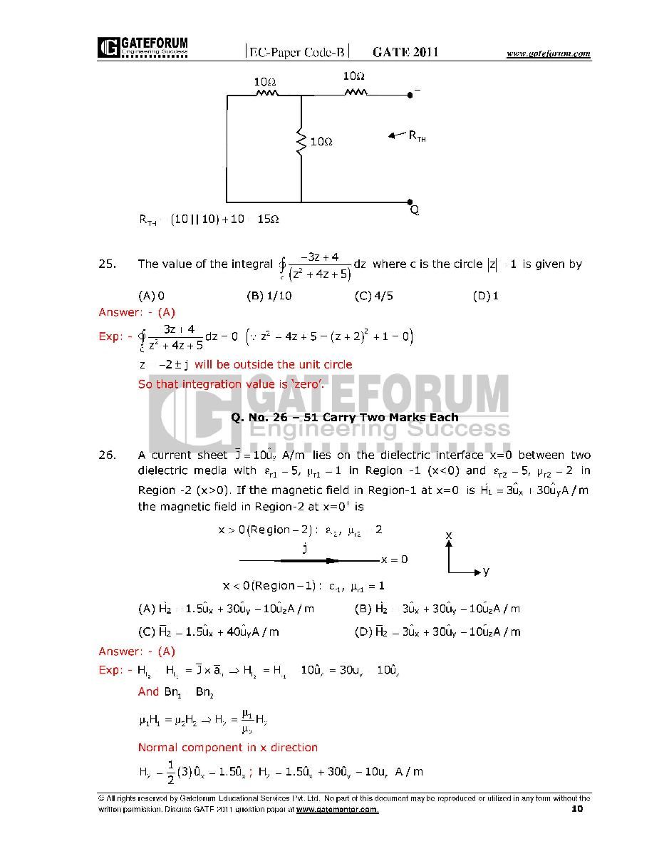 Gate Sample Papers Ece Free Download Clubsprogram