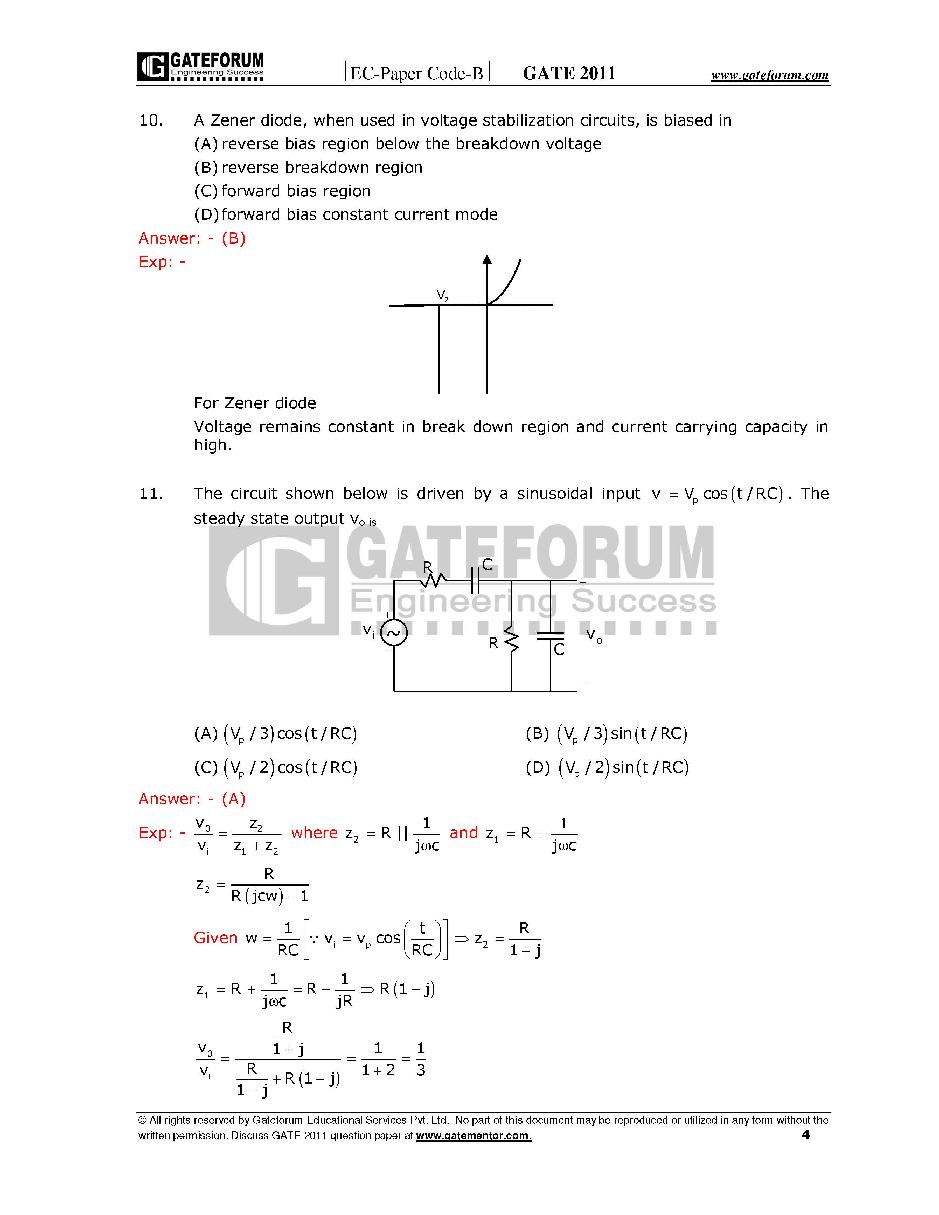 Pdf ece papers with question gate model for answers
