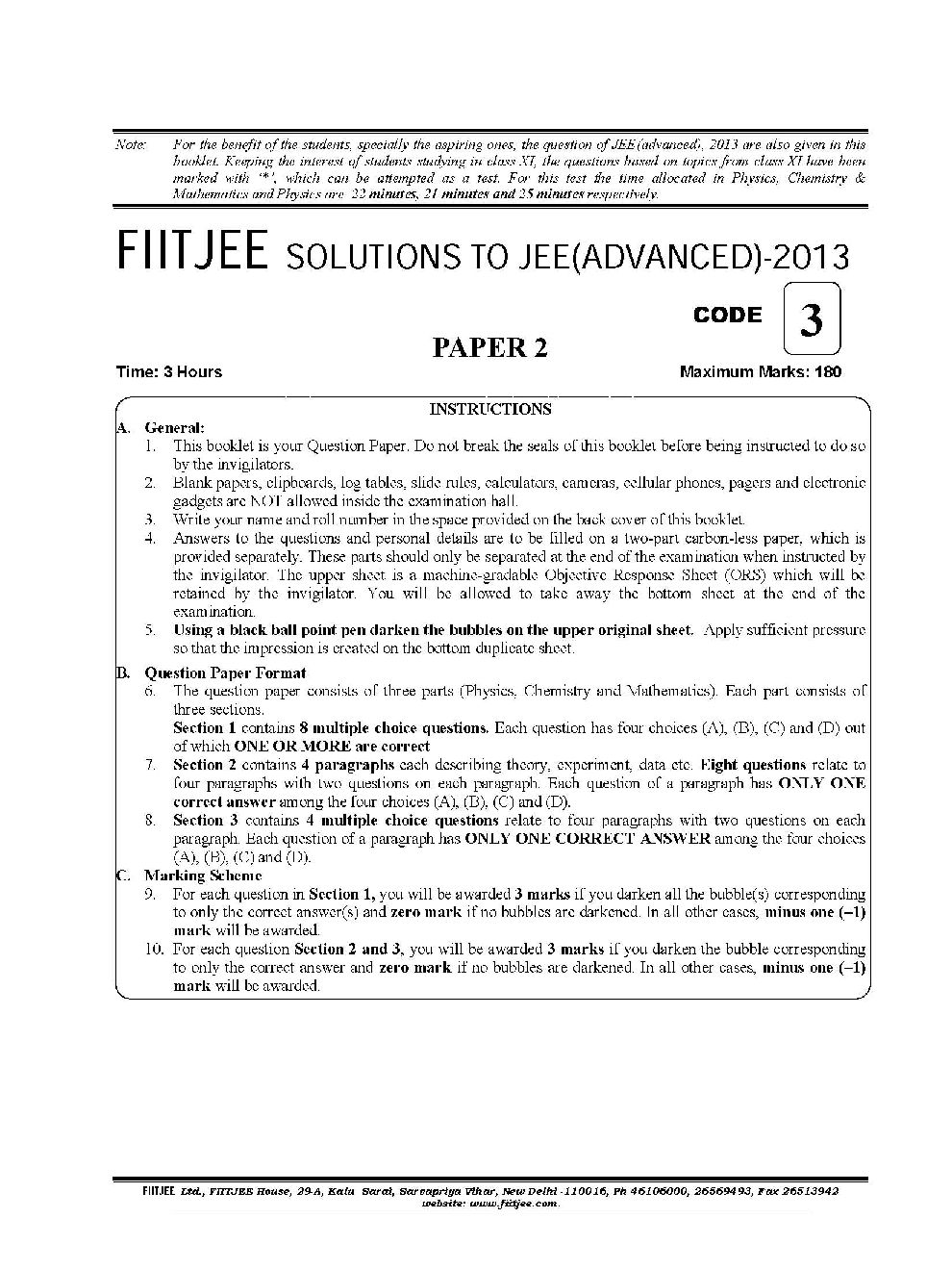 IIT JEE Study Material for Main & Advanced