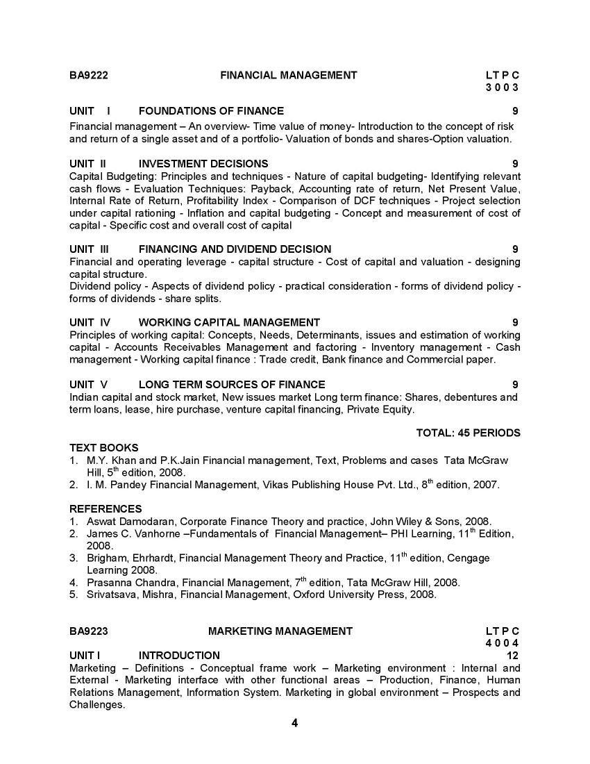 mba in hr syllabus pdf