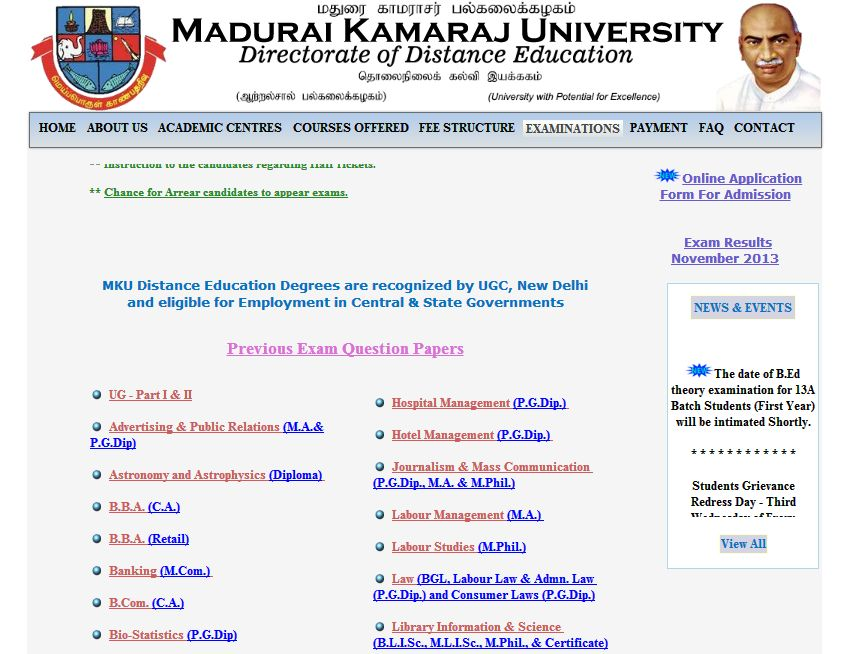 Mku dde mba question papers download: Sample Essays