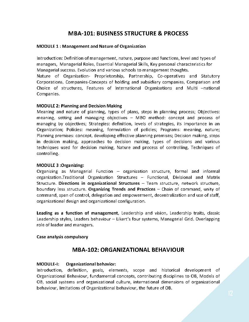 syllabus for mba Syllabus for business management and commerce - panjab university,  chandigarh,  syllabus for mba (hr) (semester system), 20122013 mba (hr)  for the.