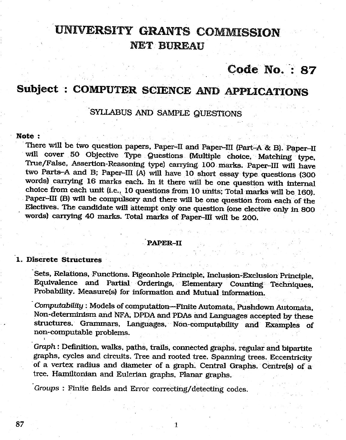 Ugc Net Exam Books For Computer Science Pdf