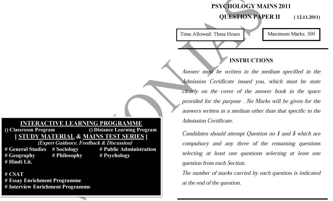 Buy psychology paper ias