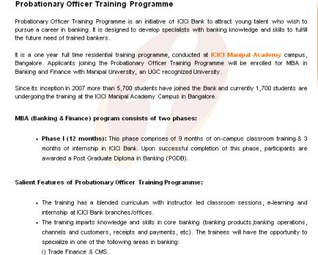summer training at icici direct Qualifying criteria for internship with icici securities limited  graduation the  candidate has established a need for an internship the candidate has cleared.