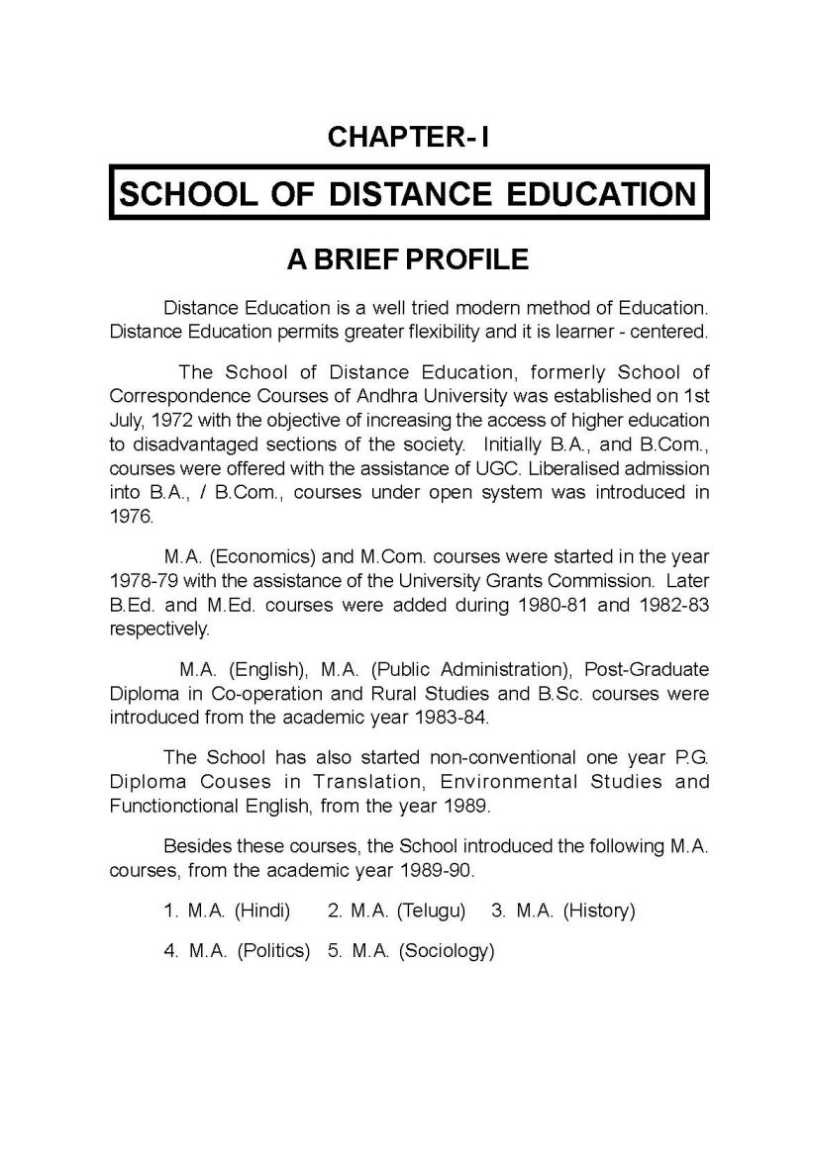 DISTANCE EDUCATION STUDY CENTERS in Hyderabad / Ranga ...