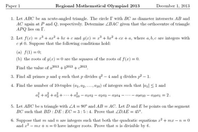 CBSE Group Maths Olympiad Sample Papers
