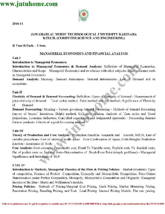 JNTU Kakinada Syllabus for CSE 2-2 R10 - 2018-2019 StudyChaCha