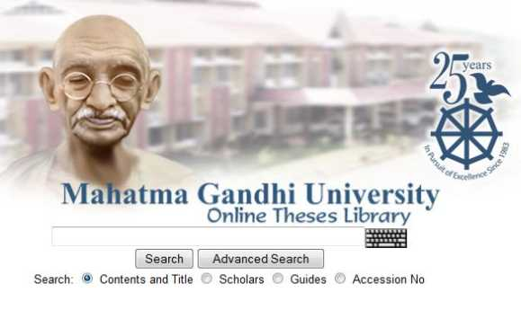 Online phd thesis mahatma gandhi university