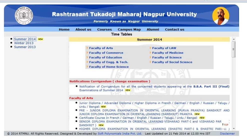 Nagpur university mba 1st sem timetable 2018 2019 for Rtmnu time table 4th sem