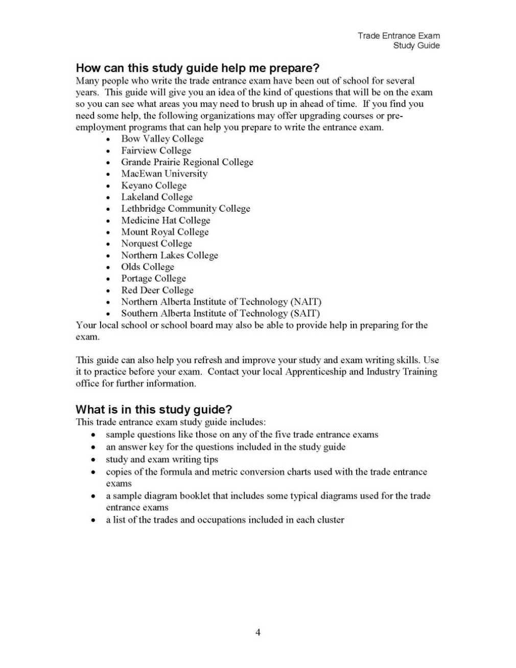 trade entrance exam in alberta 2018 2019 studychacha rh studychacha com Study Guide Exam Outlines trade entrance exam study guide mathematics