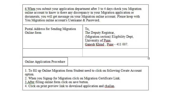 University of pune online migration certificate 2018 2019 you have required some documents to get the certificate first is original college leaving certificate second is attested xerox copy of statement of yadclub Choice Image