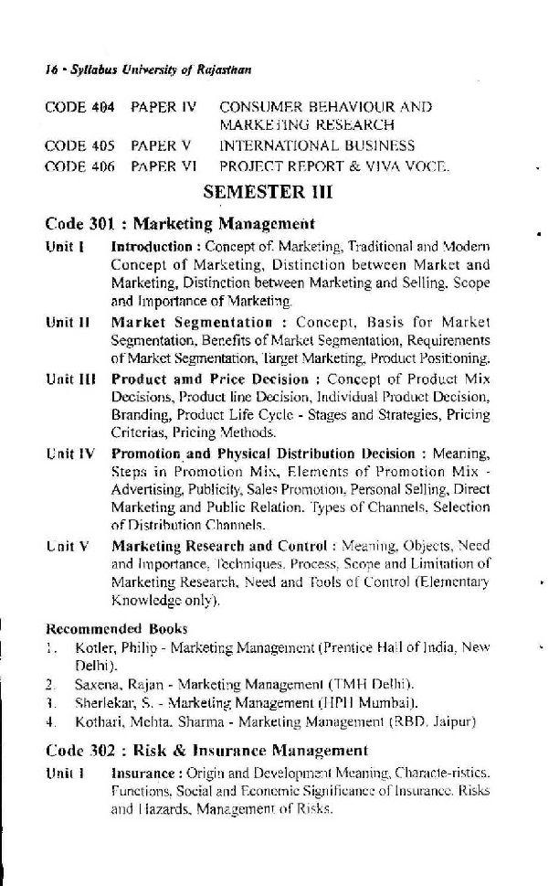 Pokhara University BBA Syllabus