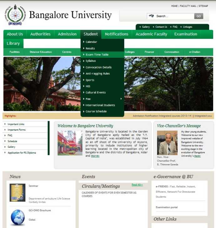 Bangalore university 6th sem ba bsc time table 2018 2019 for Bu time table 5th sem