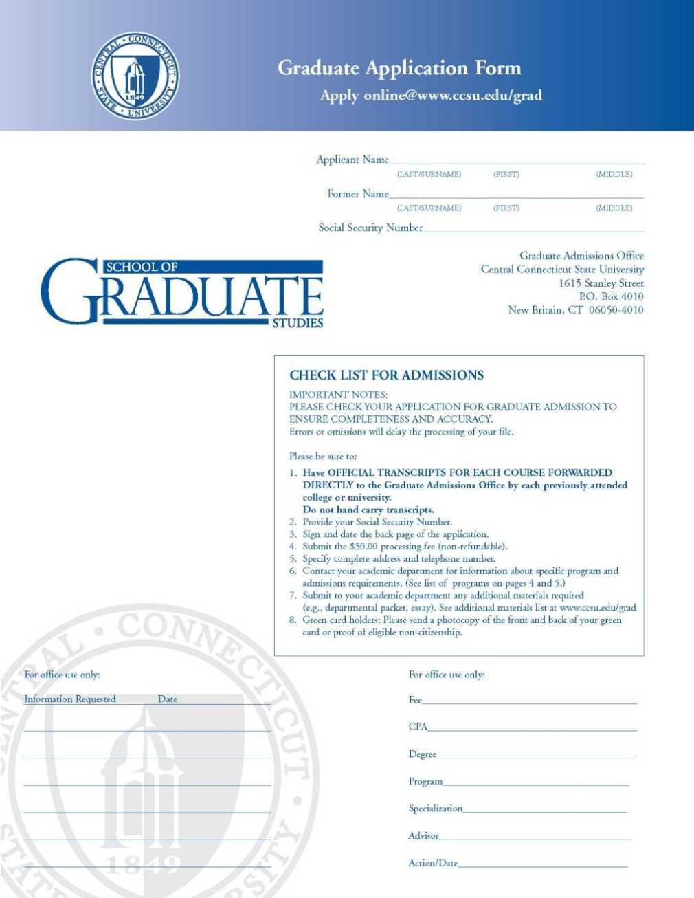 Graduate Admission: Masters in Information Design