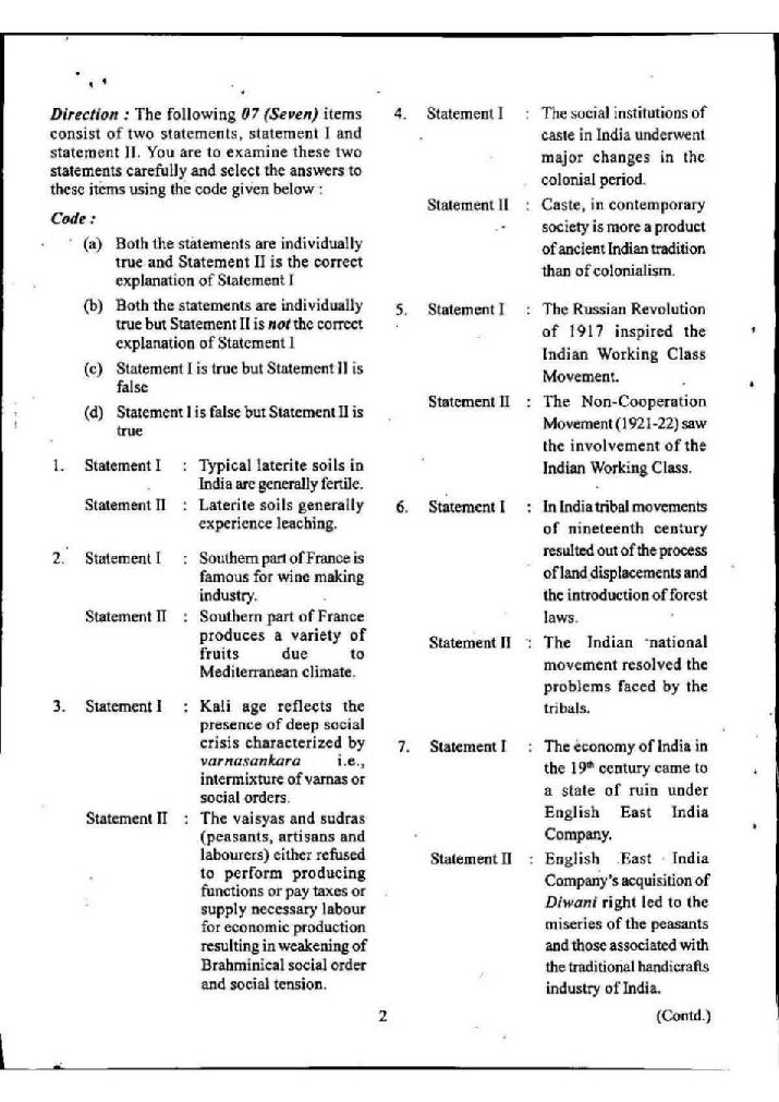 Question general pdf exam i 2013 paper knowledge cds