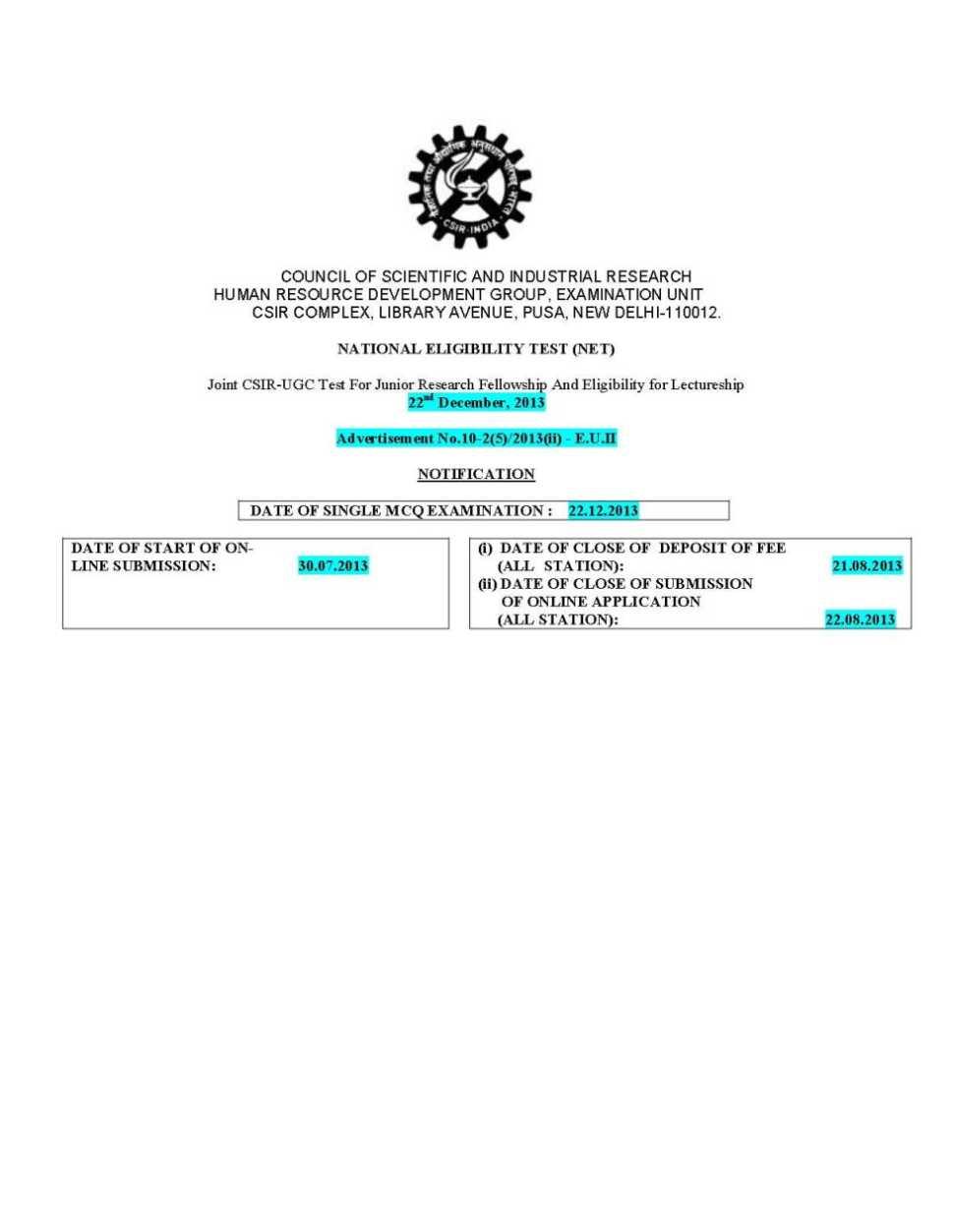 Ugc net online form last date in Auckland