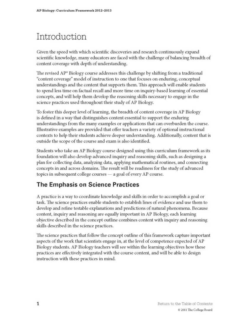 college board biology ap essays