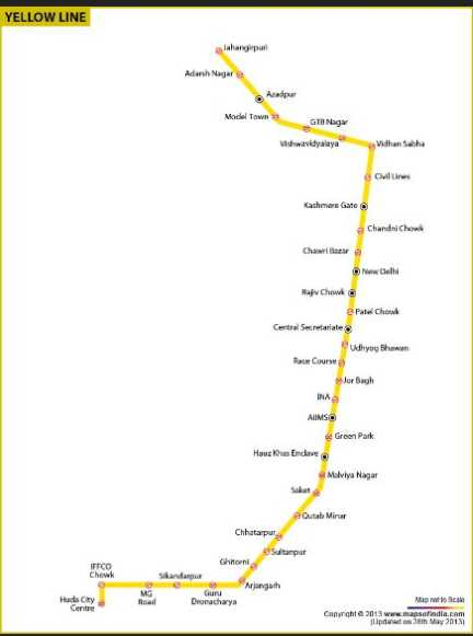 Metro Yellow Line Map | compressportnederland