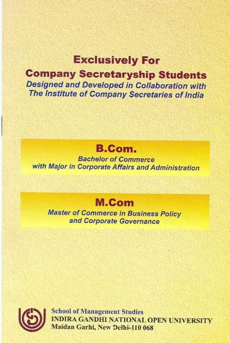 M.B.A. (Corporate Secretaryship), Master of Business ...
